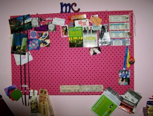 Scrapbook paper is a cheap, versatile tool for beautifying your dorm.
