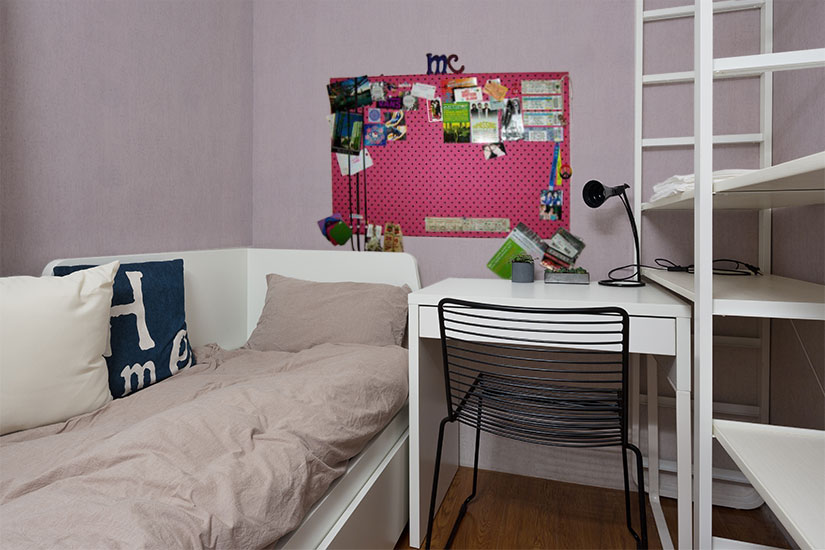 Dorm Room Design Tip: Use Scrapbook Paper to Decorate Your Walls