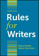 Rules for Writers (7th ED) ISBN: 978-0312647360