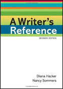 Writer's Reference (7th ED) ISBN: 978-0312601430