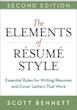 The Elements of Resume Style - 2 edition by Scott Bennett