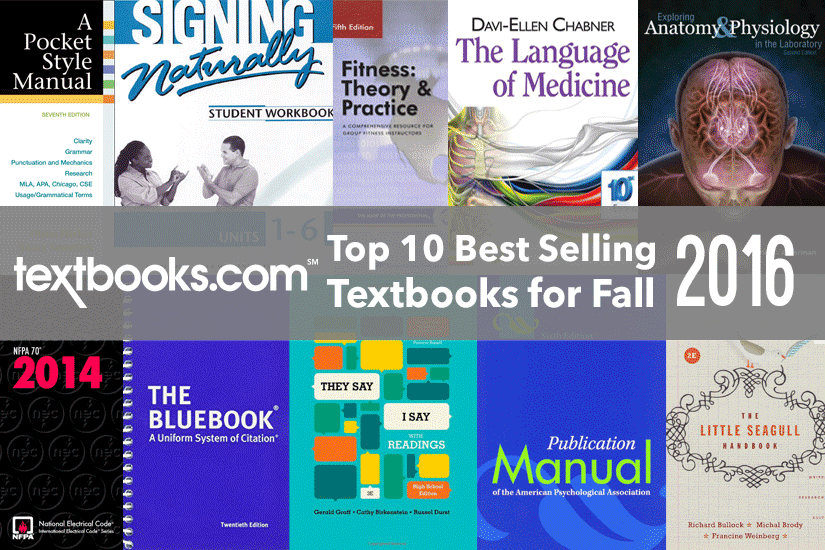 Our 10 Best Selling Textbooks for Fall 2016