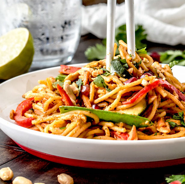 spicy-thai-pumpkin-noodles-carlsbad-cravings easy pumpkin recipes
