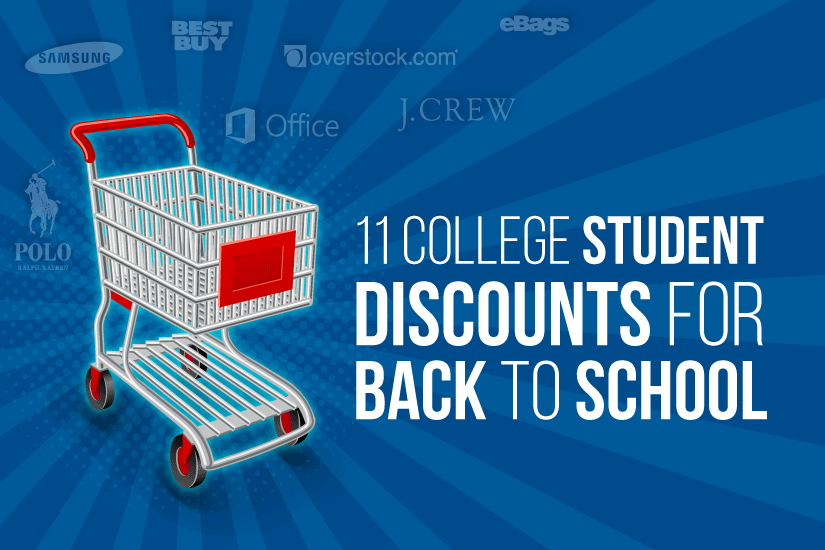 College Student Discounts for Back to School