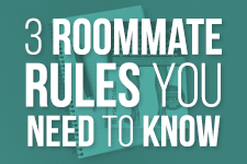 only 3 college roommate rules you need